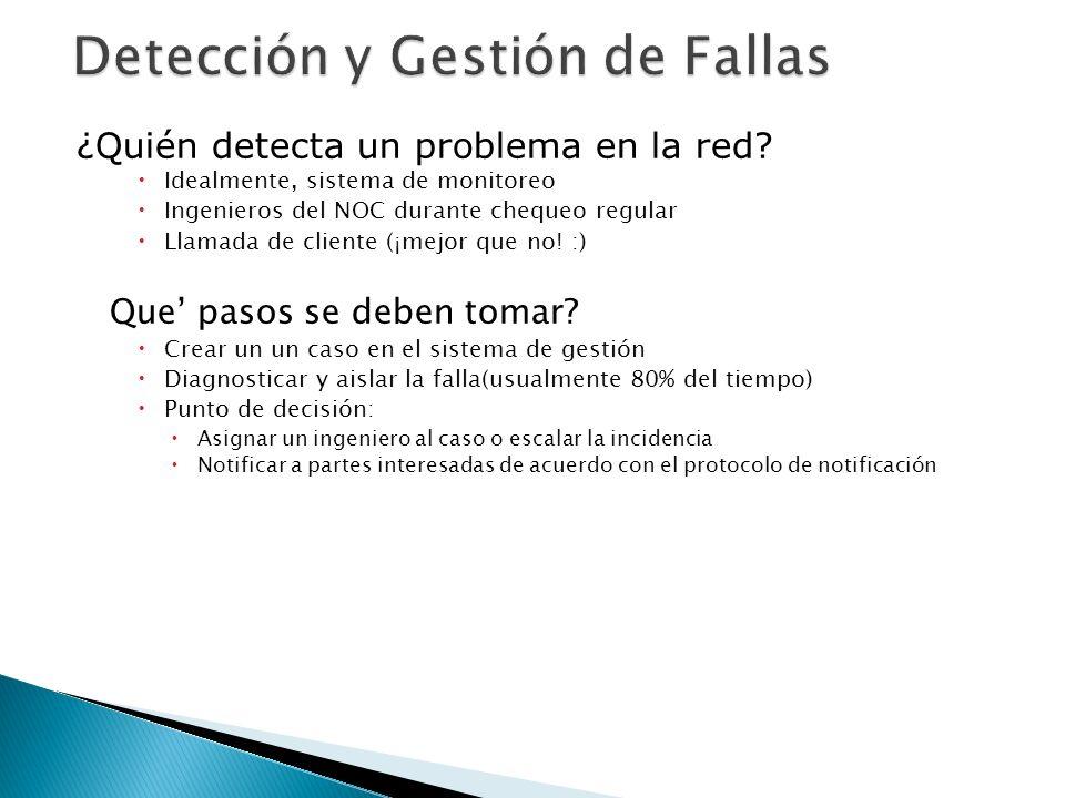 Detección y Gestión de Fallas