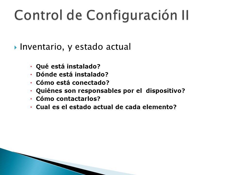 Control de Configuración II