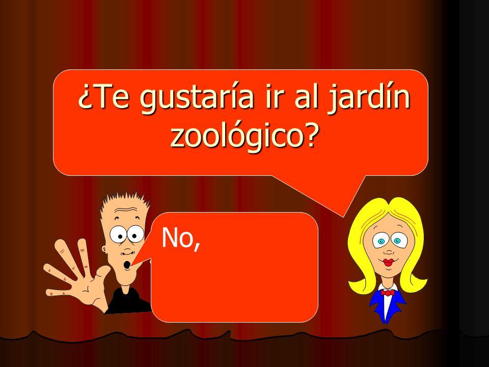 ¿Te gustaría ir al jardín zoológico