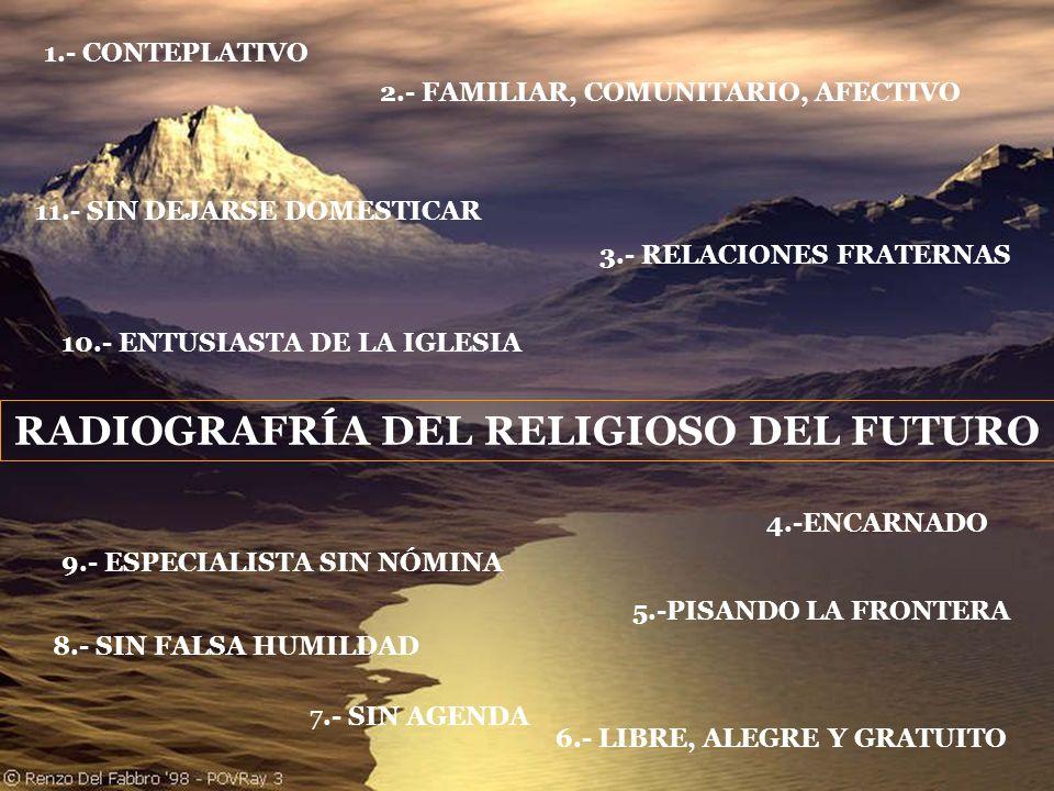 RADIOGRAFRÍA DEL RELIGIOSO DEL FUTURO