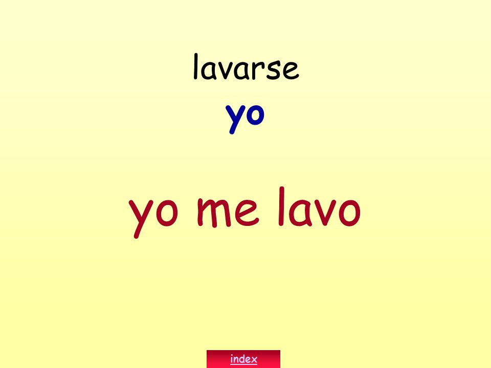 lavarse yo yo me lavo index