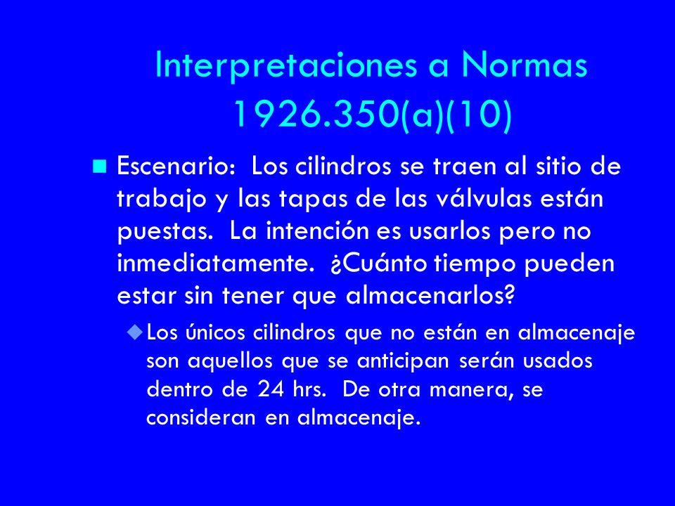 Interpretaciones a Normas 1926.350(a)(10)