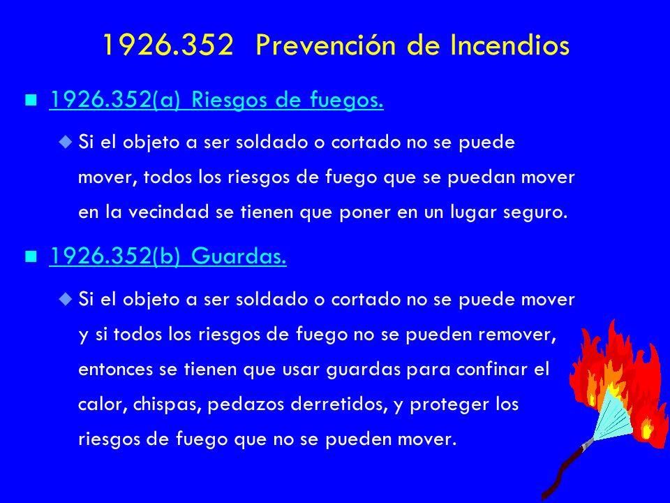 1926.352 Prevención de Incendios