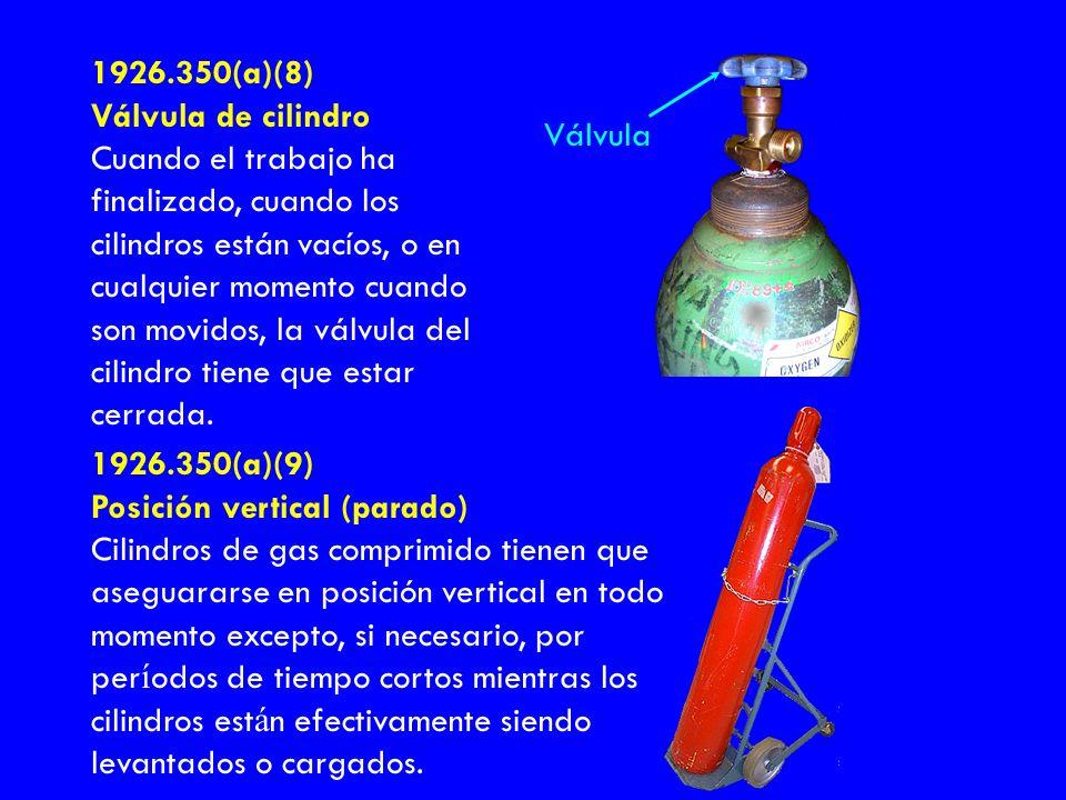 1926.350(a)(8) Válvula de cilindro.