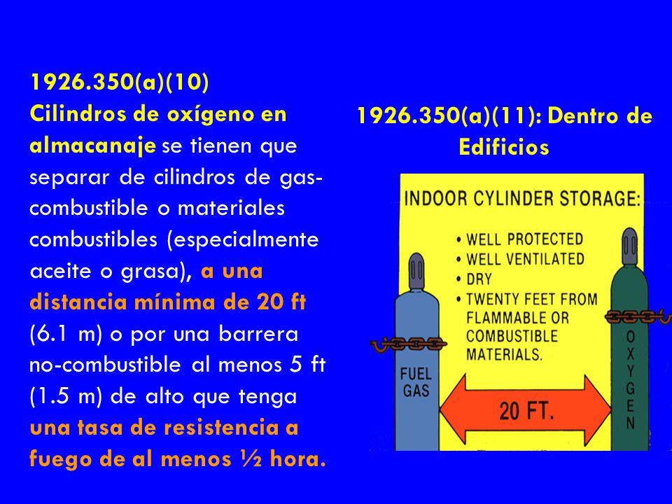 1926.350(a)(11): Dentro de Edificios