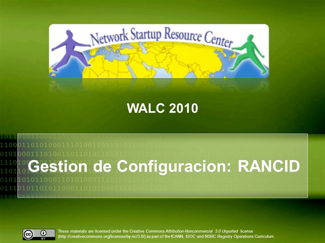 Gestion de Configuracion: RANCID