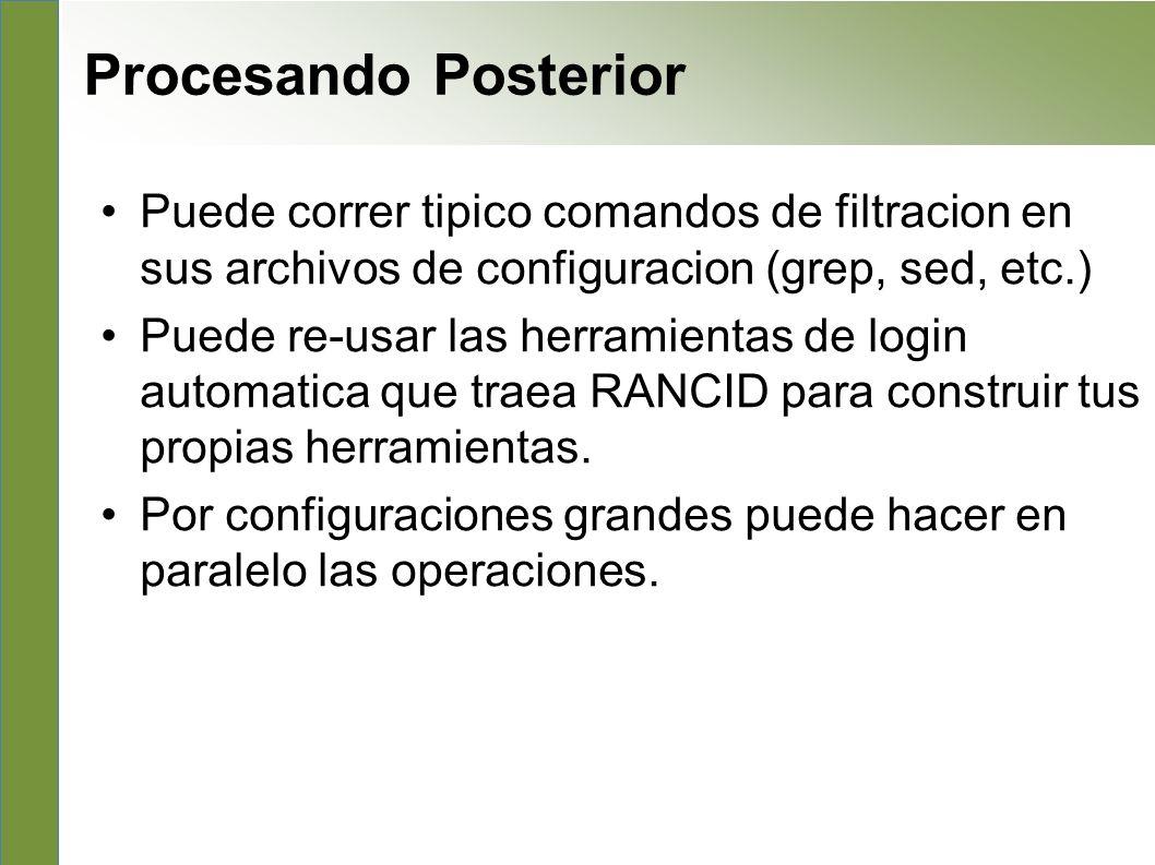 Post processing Procesando Posterior