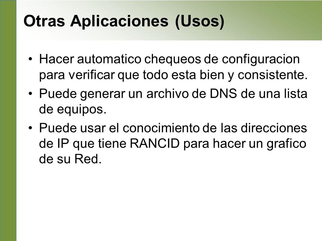 Otras Aplicaciones (Usos)
