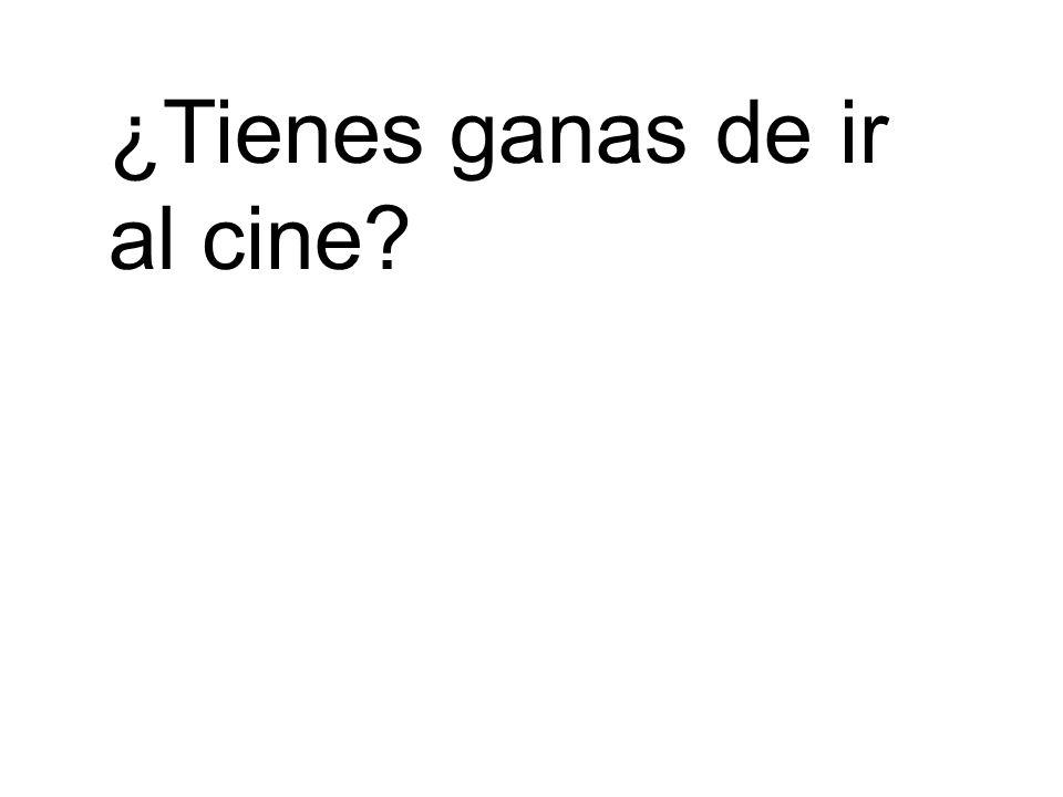 ¿Tienes ganas de ir al cine