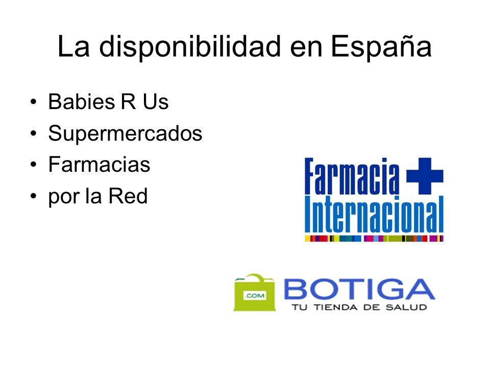 La disponibilidad en España