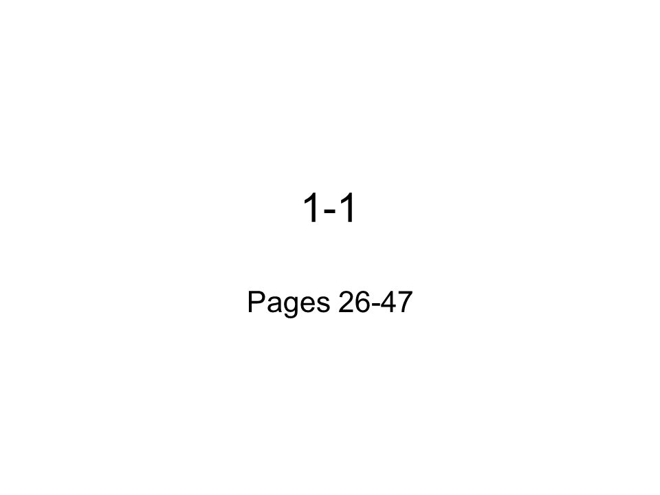 1-1 Pages 26-47