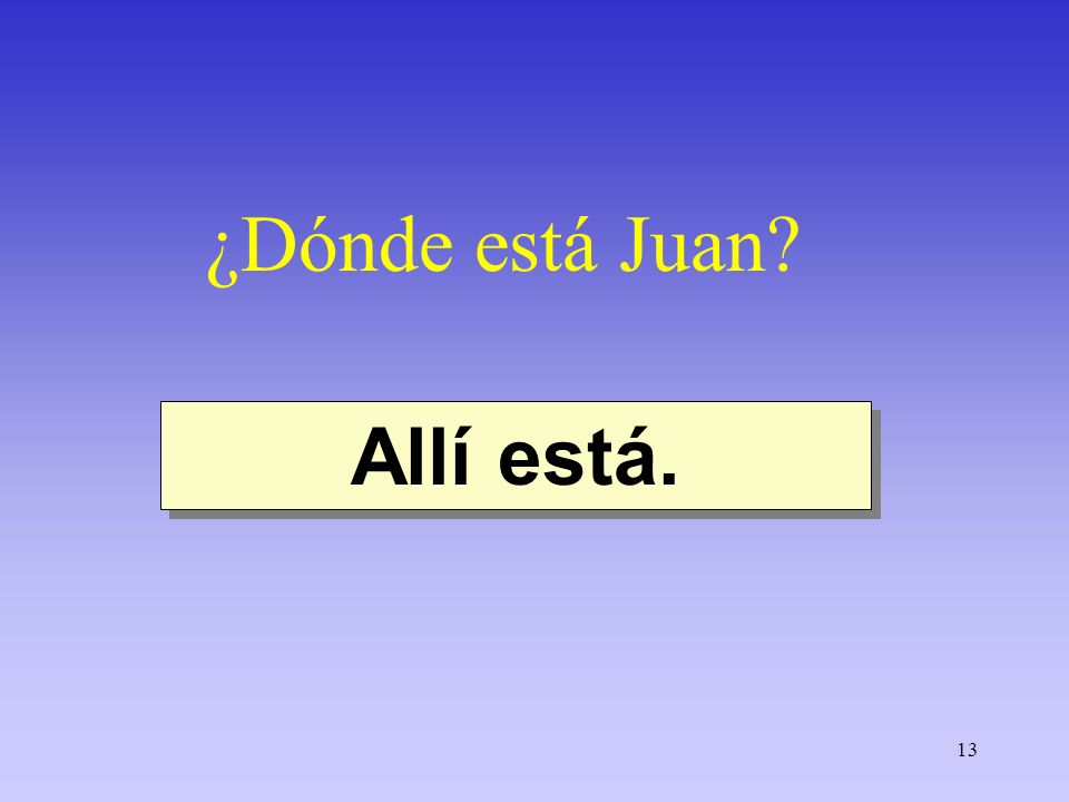 ¿Dónde está Juan Allí está.