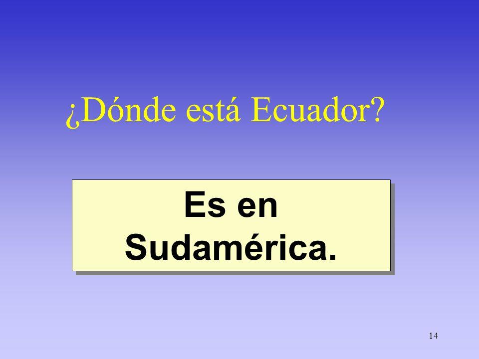 ¿Dónde está Ecuador Es en Sudamérica.