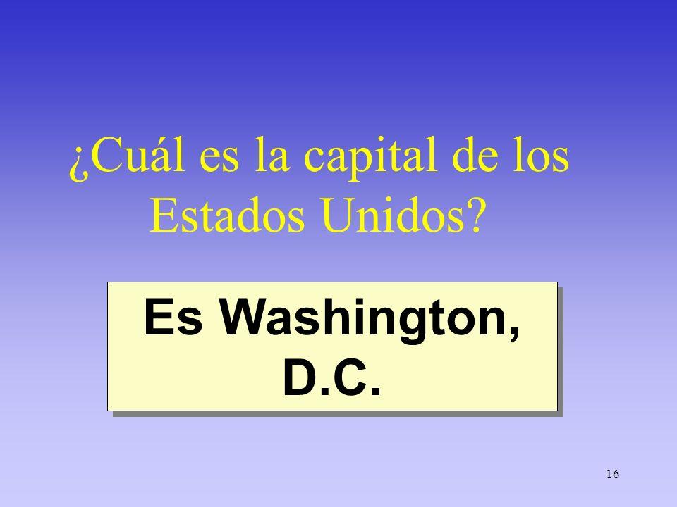 ¿Cuál es la capital de los Estados Unidos