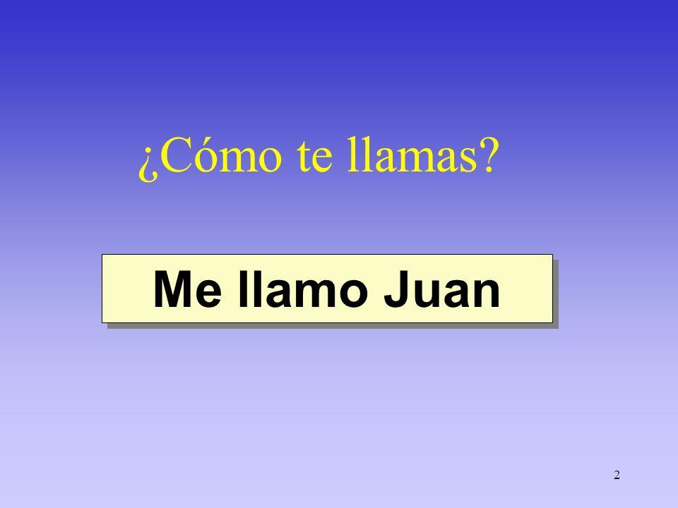 ¿Cómo te llamas Me llamo Juan