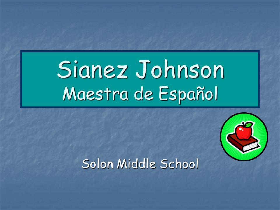 Sianez Johnson Maestra de Español