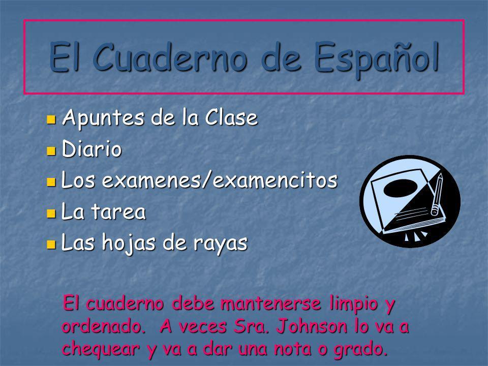 El Cuaderno de Español Apuntes de la Clase Diario