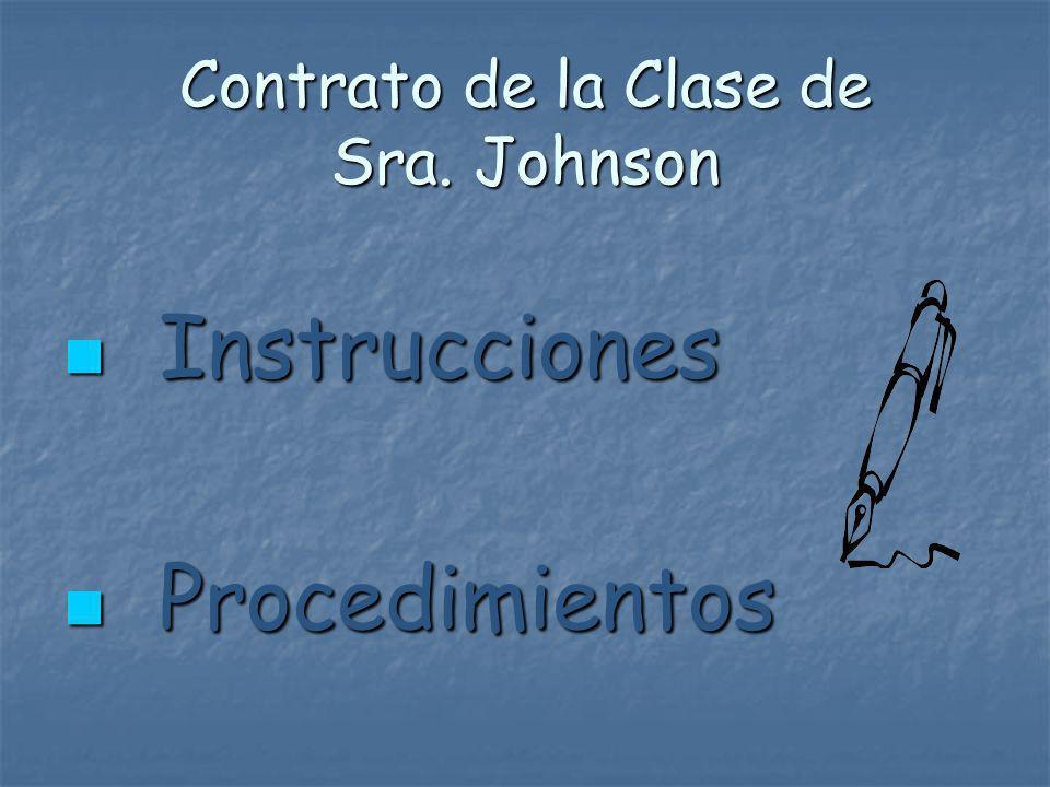 Contrato de la Clase de Sra. Johnson