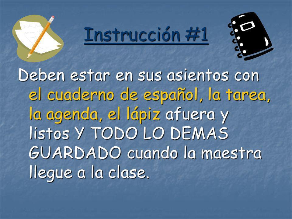 Instrucción #1