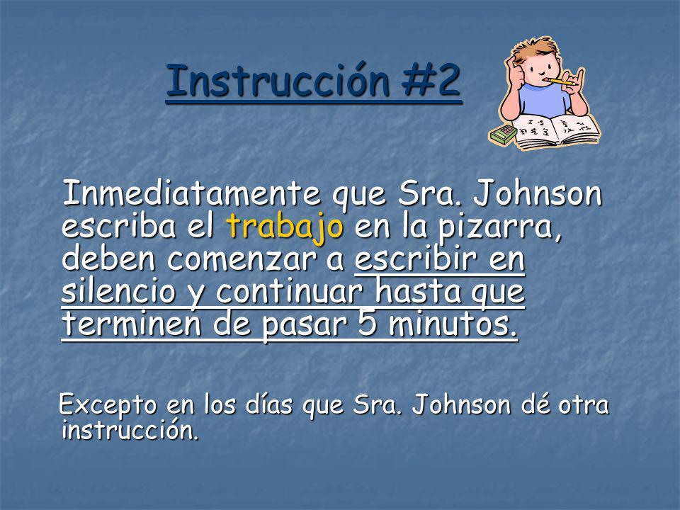 Instrucción #2