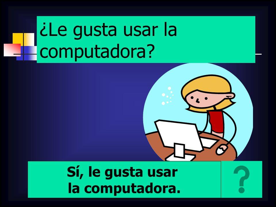 ¿Le gusta usar la computadora