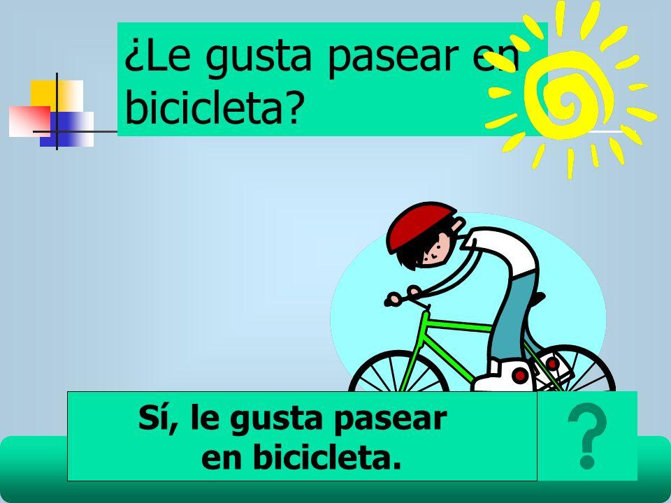¿Le gusta pasear en bicicleta