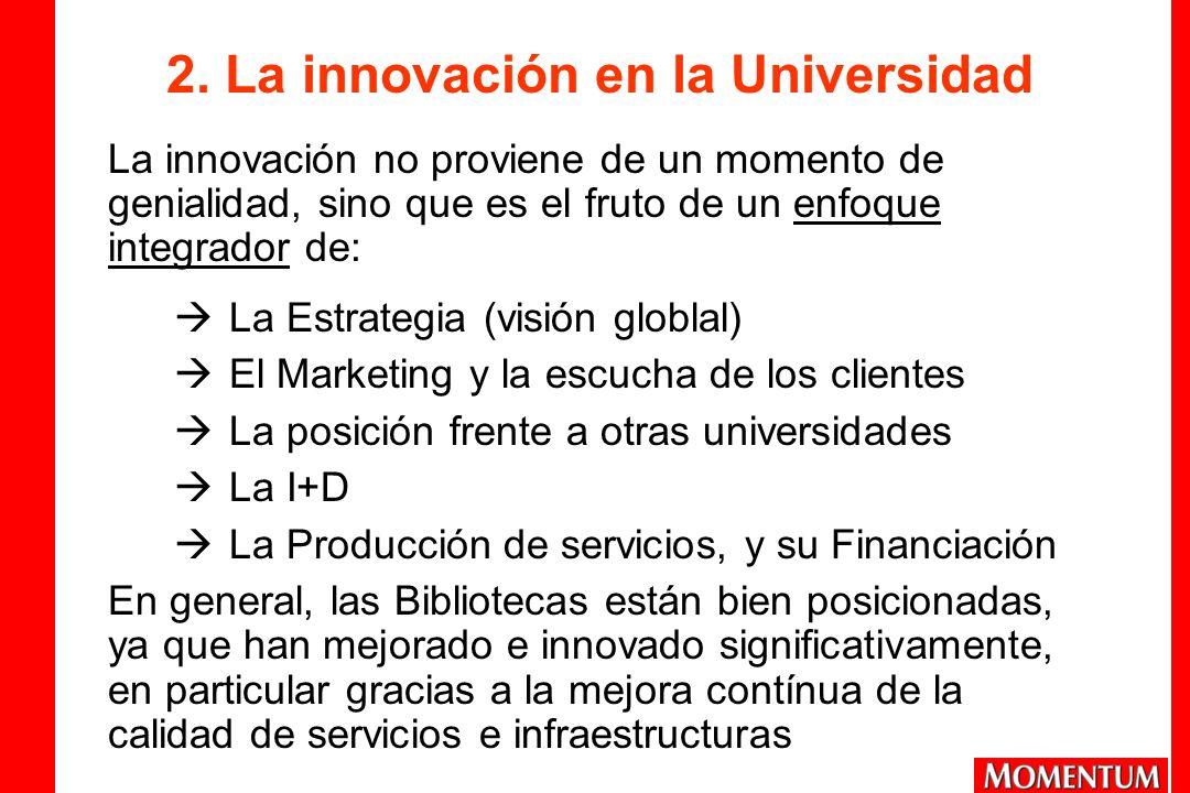 2. La innovación en la Universidad