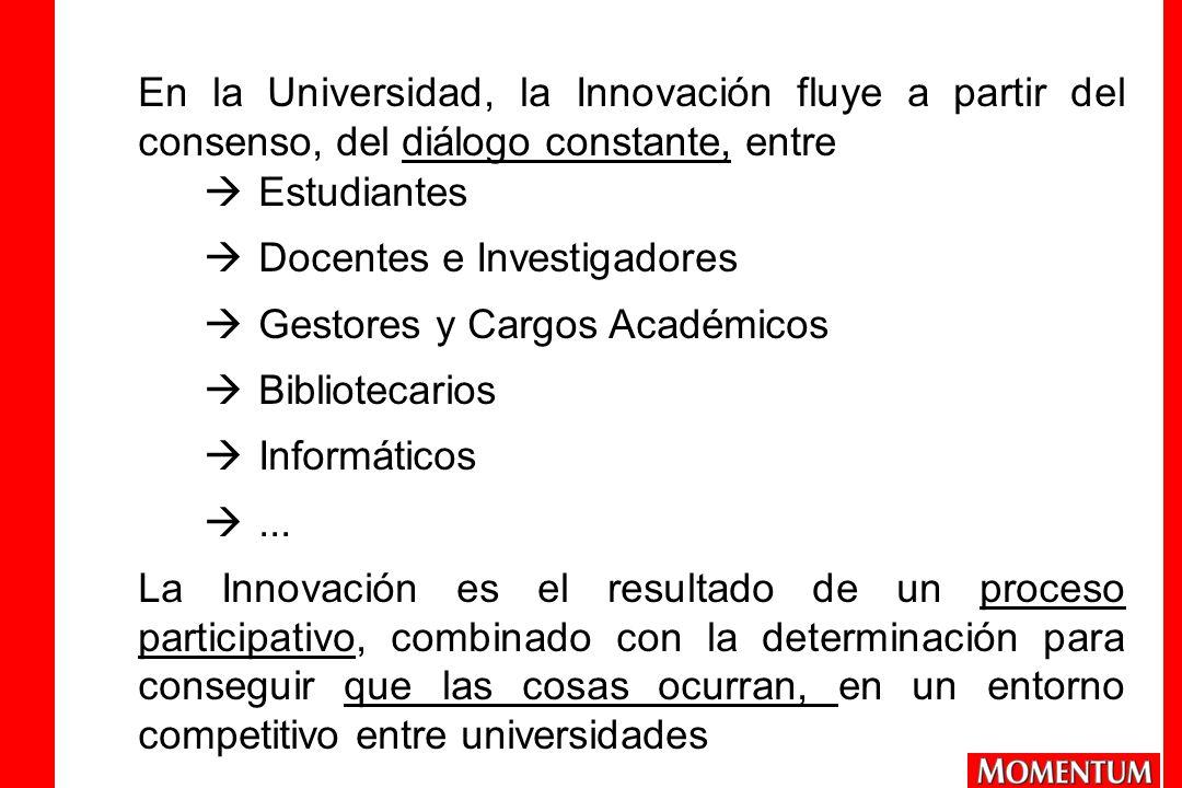 En la Universidad, la Innovación fluye a partir del consenso, del diálogo constante, entre