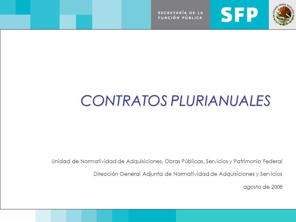 CONTRATOS PLURIANUALES