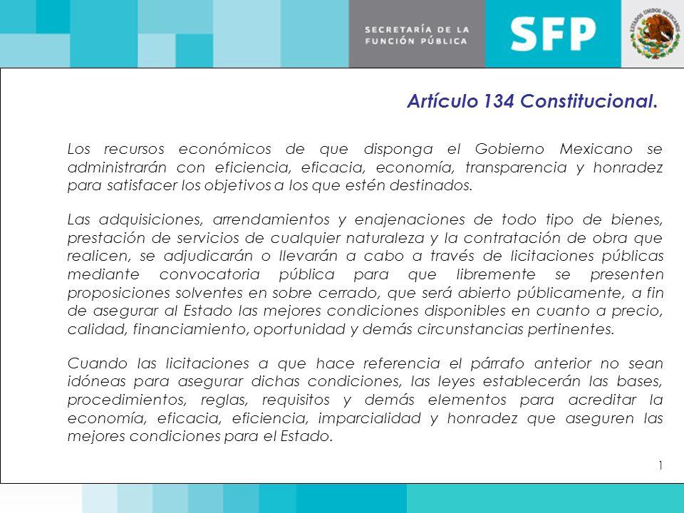 Artículo 134 Constitucional.