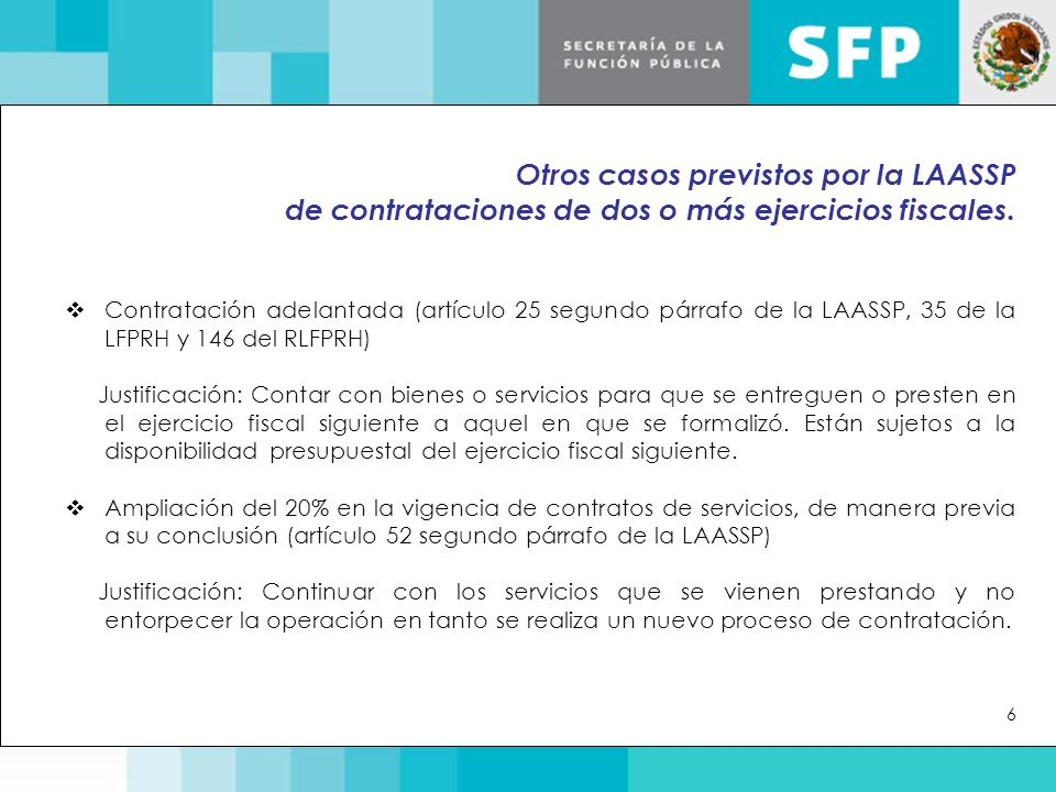 Otros casos previstos por la LAASSP