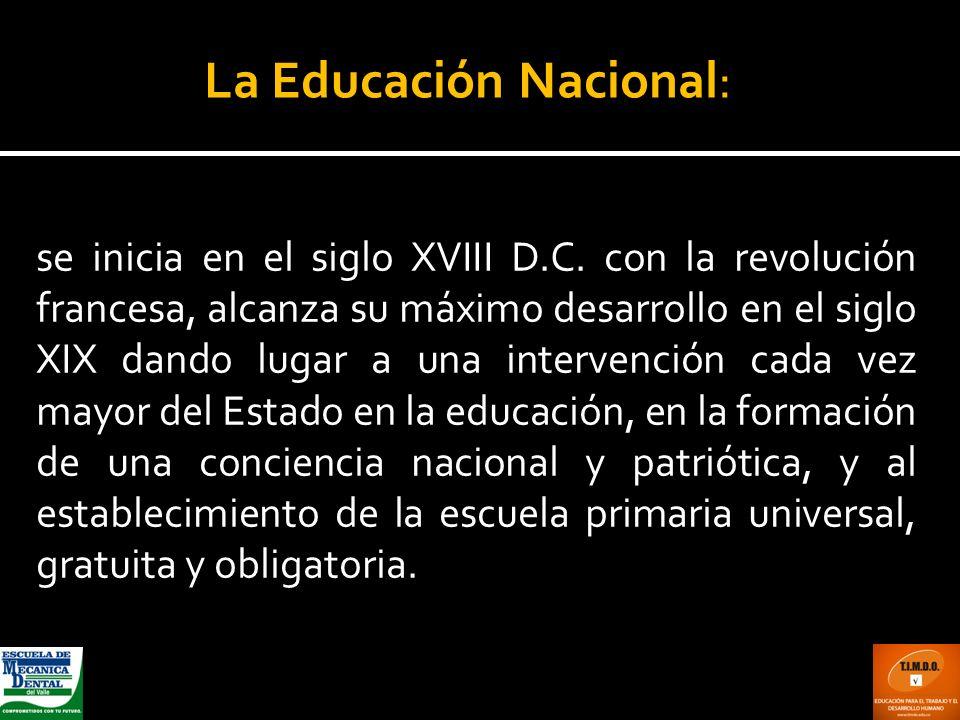 La Educación Nacional:
