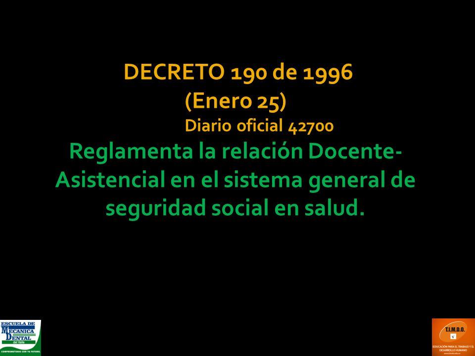 DECRETO 190 de 1996 (Enero 25) Diario oficial 42700.