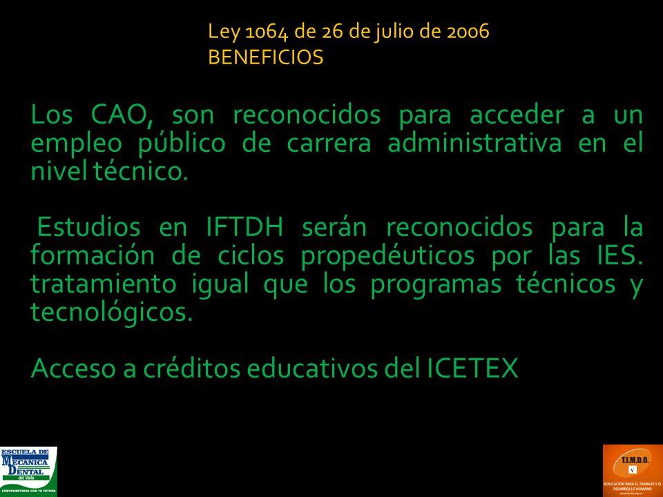 Acceso a créditos educativos del ICETEX