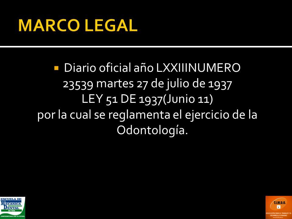 MARCO LEGAL Diario oficial año LXXIIINUMERO