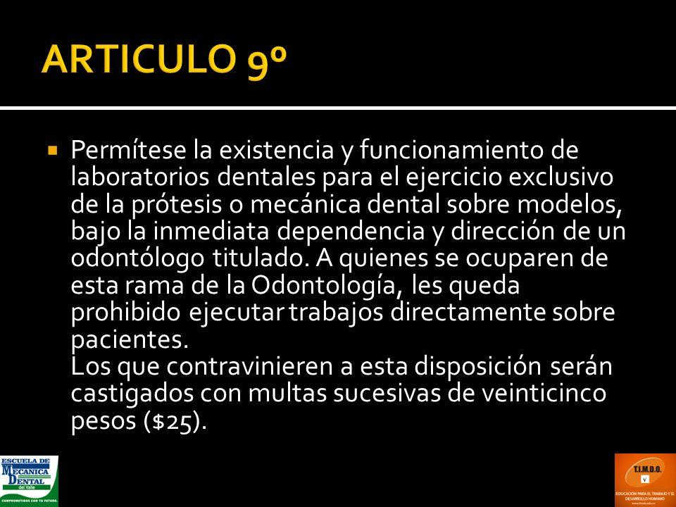 ARTICULO 9º