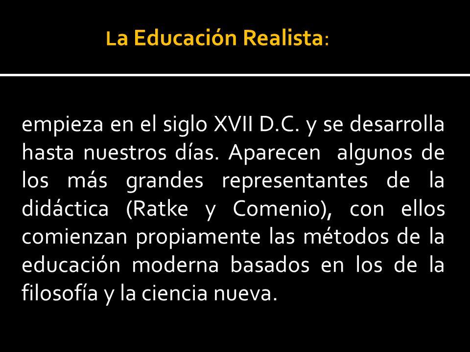 La Educación Realista: