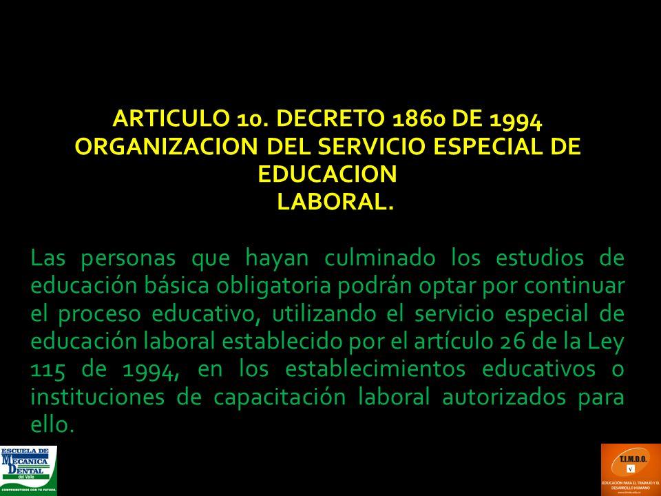 ORGANIZACION DEL SERVICIO ESPECIAL DE EDUCACION