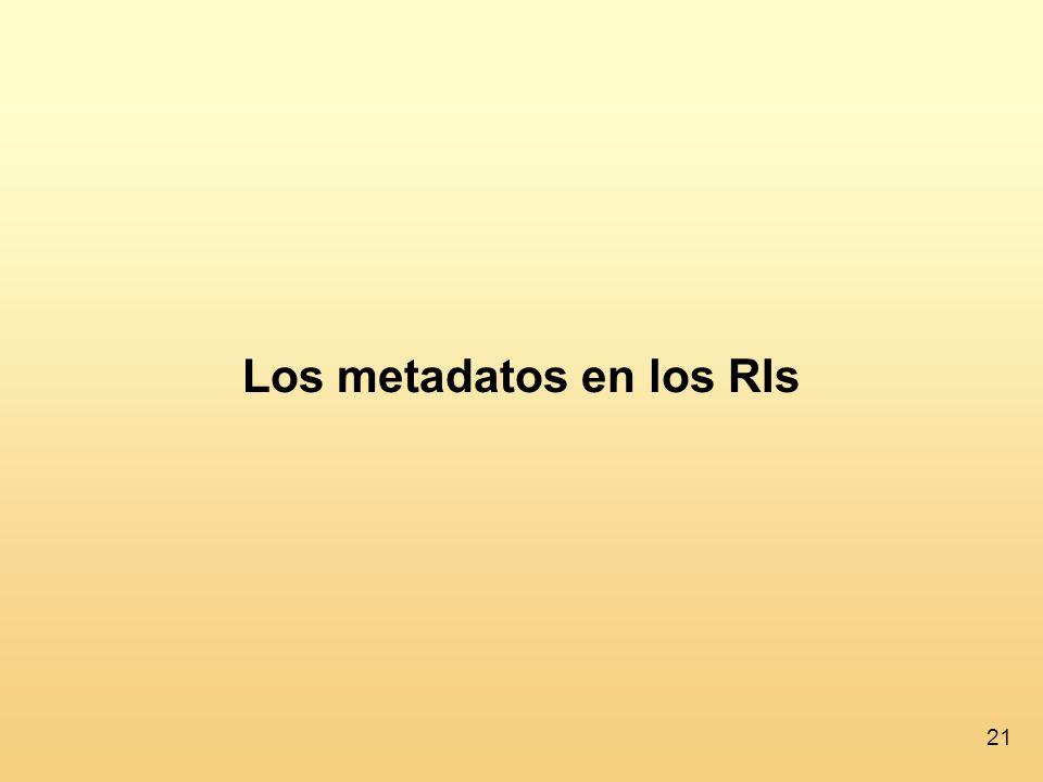 Los metadatos en los RIs
