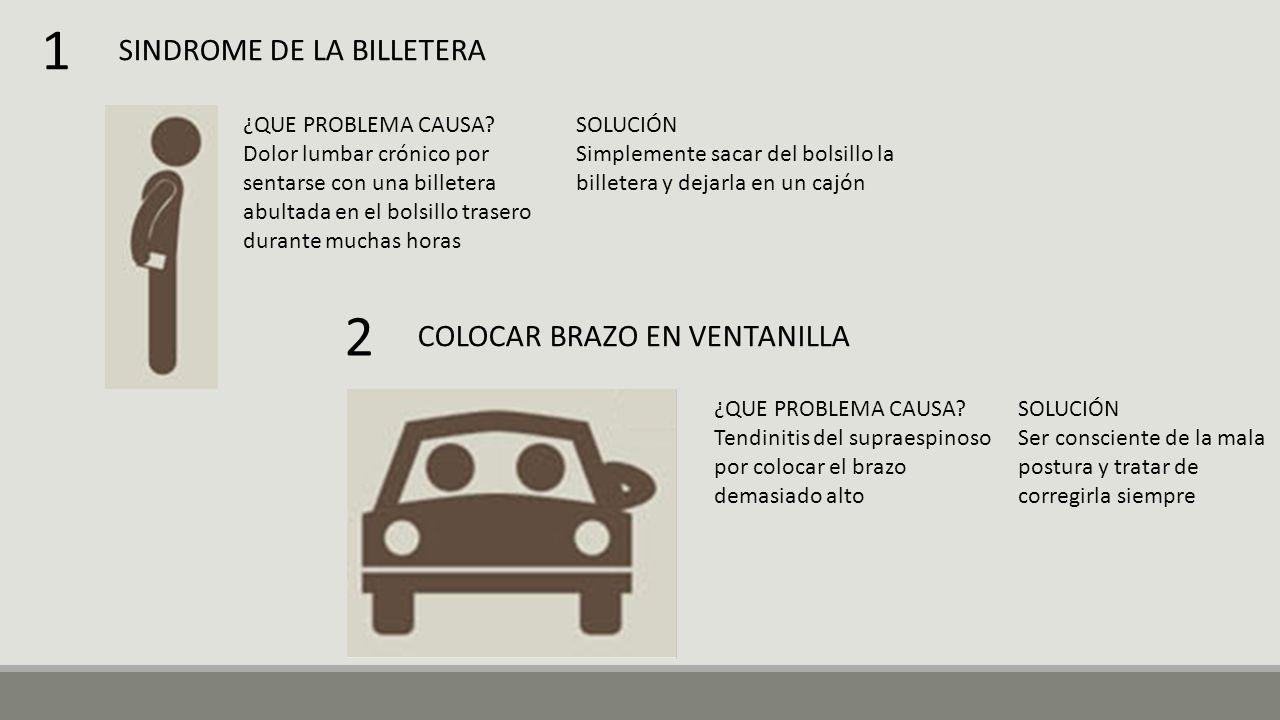 1 2 SINDROME DE LA BILLETERA COLOCAR BRAZO EN VENTANILLA