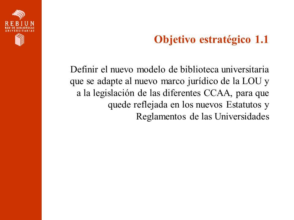 Objetivo estratégico 1.1