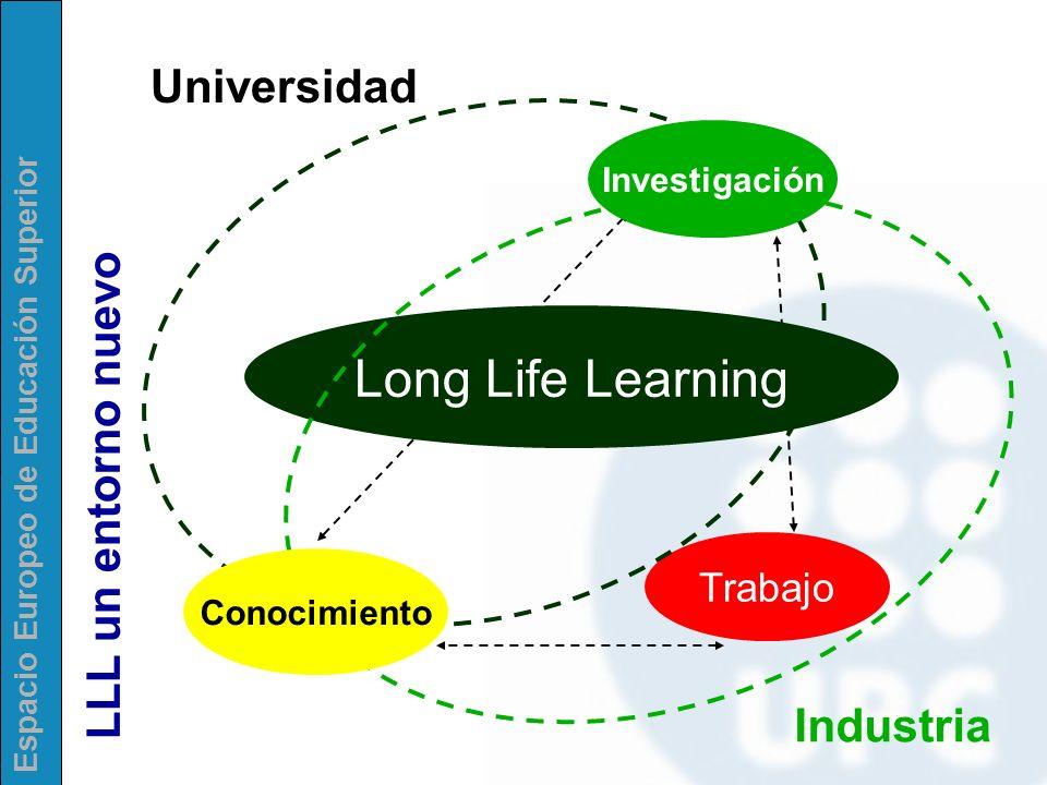 Long Life Learning Universidad LLL un entorno nuevo Industria Trabajo