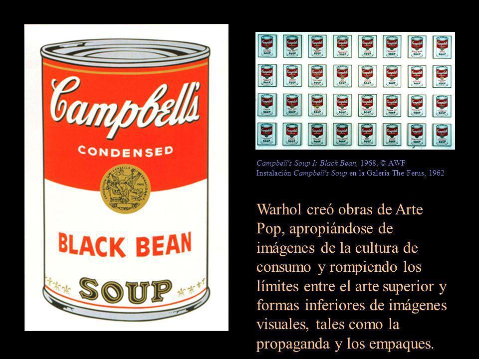 Campbell s Soup I: Black Bean, 1968, © AWF Instalación Campbell s Soup en la Galería The Ferus, 1962
