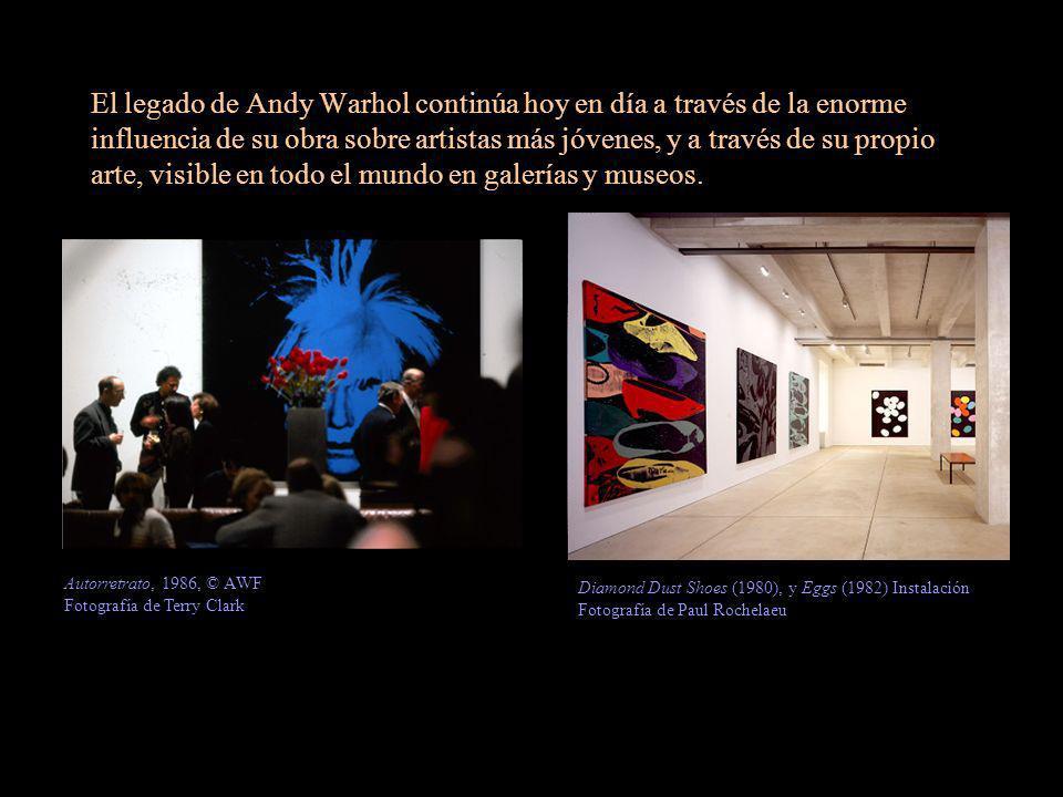 El legado de Andy Warhol continúa hoy en día a través de la enorme influencia de su obra sobre artistas más jóvenes, y a través de su propio arte, visible en todo el mundo en galerías y museos.