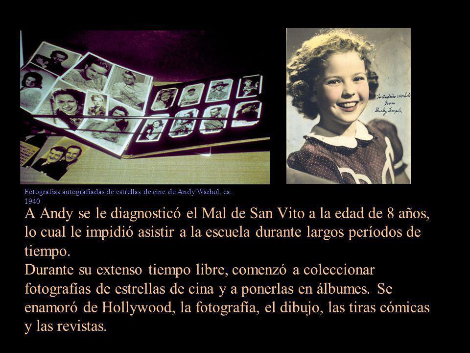 Fotografías autografiadas de estrellas de cine de Andy Warhol, ca. 1940