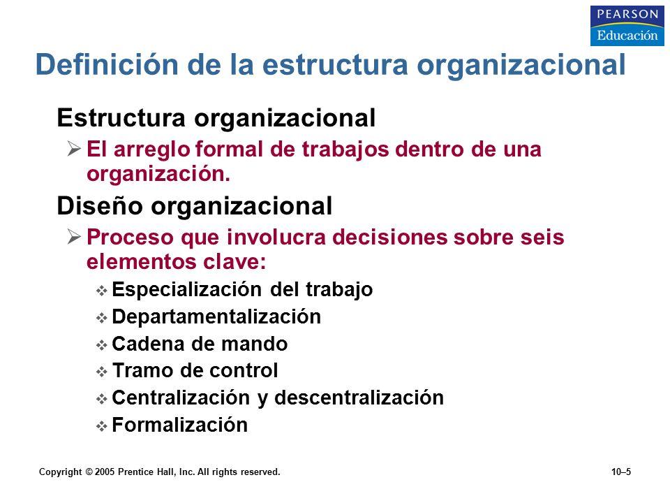 10 administración capítulo estructura y diseño organizacional