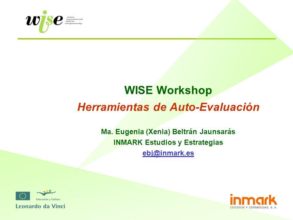 WISE Workshop Herramientas de Auto-Evaluación