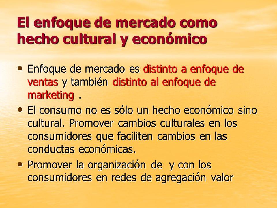 El enfoque de mercado como hecho cultural y económico