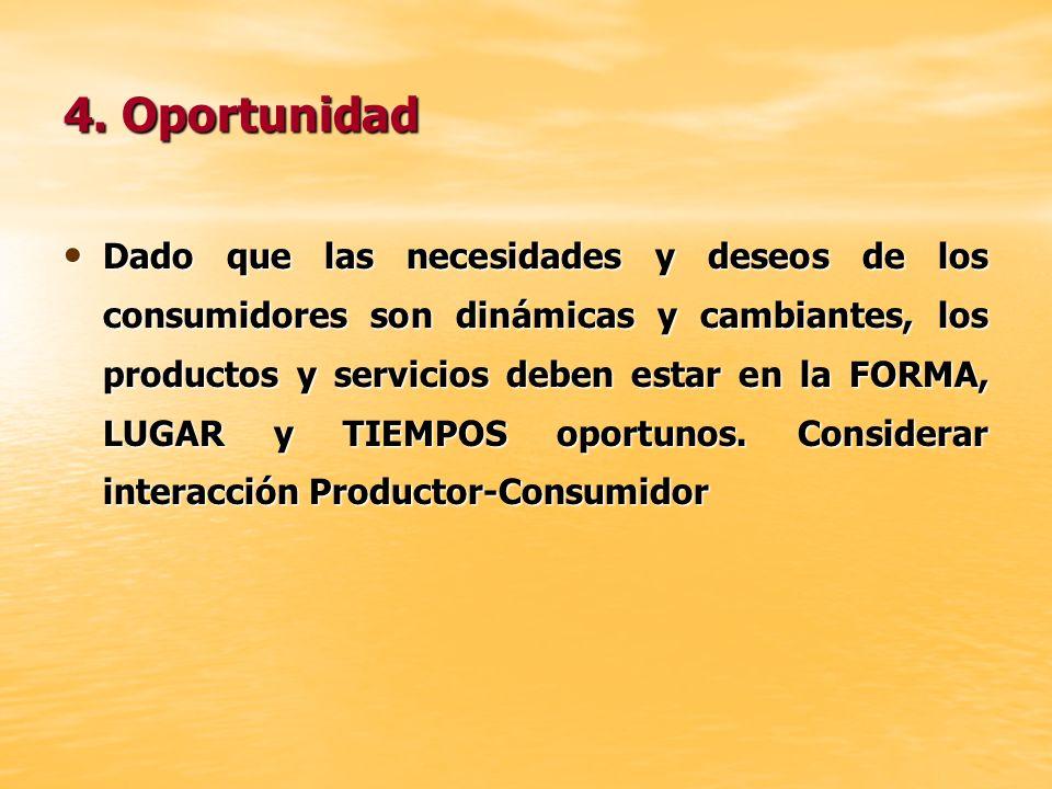 4. Oportunidad