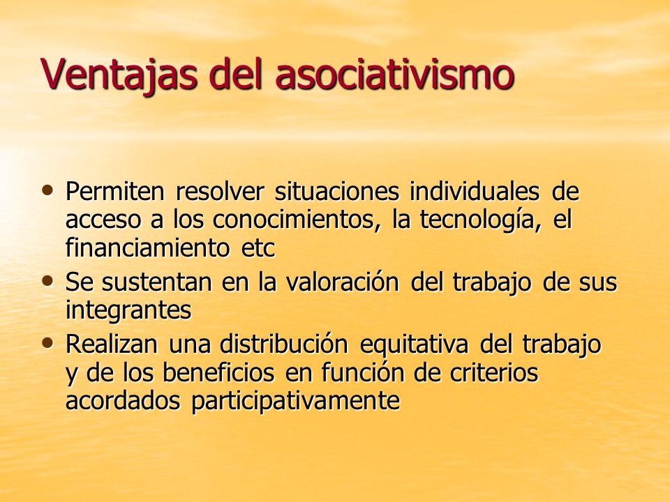 Ventajas del asociativismo